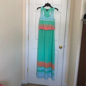 Junior multi-color maxi dress